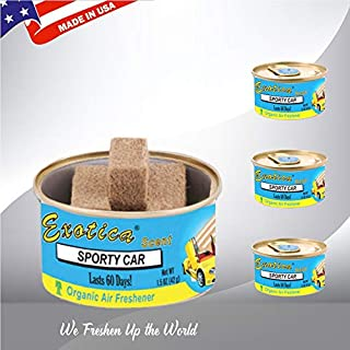 Exotica Car Air Freshener | Organic | Spill-Proof Can | for Home & Auto | Long Lasting Freshness | (Pack of 12) Sporty Car