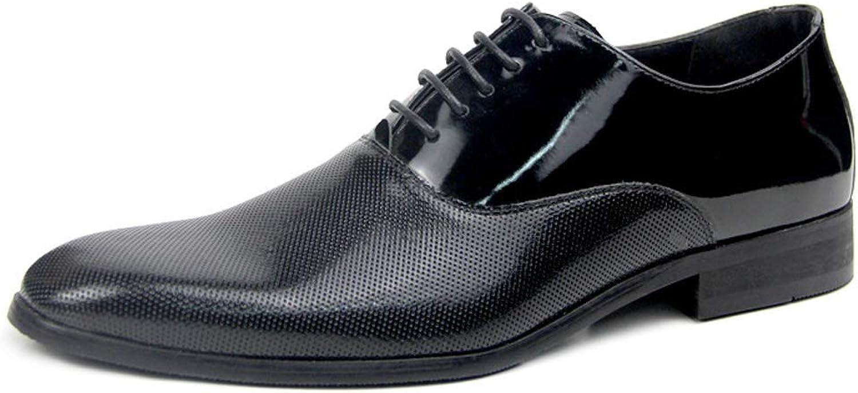 Men's Business Dress shoes, Men's Leather lace Breathable Hollow Pointed Men's shoes