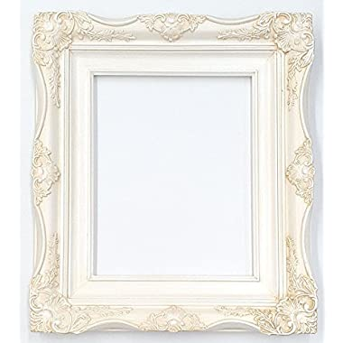 4  Vintage Ornate Baroque French White Picture Frame (11x14 Inch)