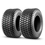 MaxAuto 2 Pcs 16x6.50-8 Lawn Mower Tire for Garden Tractors Ridings, 4PR, Tubeless