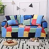 WXQY Funda de sofá elástica Moderna, Utilizada para la Funda de sofá de la Sala de Estar, Funda Protectora de sofá con Todo Incluido, Bien Envuelta, A12 de 3 plazas
