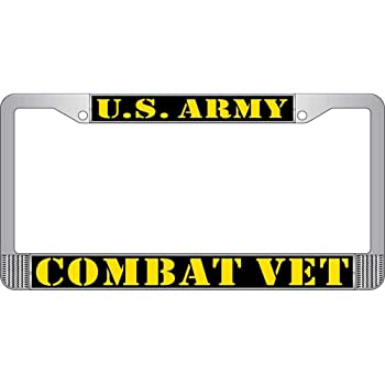 U.S Army Combat Infantryman Badge License Plate with Frame FindingKing