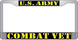 U.S. Army Combat Veteran License Plate Frame