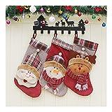 LUYIYI El tamaño Grande 3 PCS 18inches Media de la Navidad de Santa muñeco de Nieve Reno carácter de Navidad for la Temporada de Vacaciones Home Decor