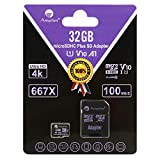 Amplim TF Memory Card 32GB Micro SD SDHC Card Plus Adapter, Cell Phone, Tablet, Camera, 3DS
