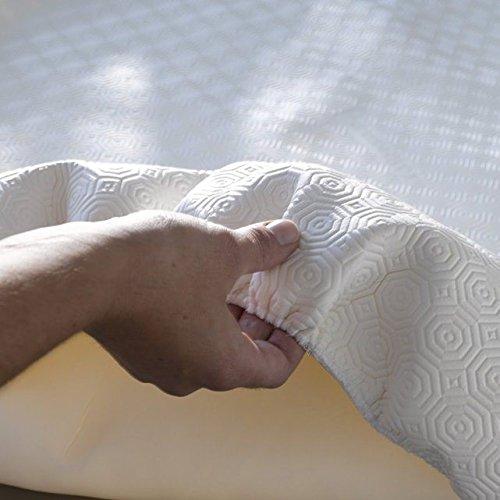 SpazioTessile Mollettone Gommato Salva Copri Tavolo Impermeabile Quadrato o Rotondo con Elastico (Rotondo diam. 120 x tavoli diam 100)