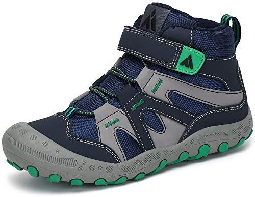 Mishansha Jungen Trekkingschuhe Mädchen Wanderstiefel Kinder Leicht Hoch Sneakers für Outdoor Sport Walking Hiking, Blau, 26 EU