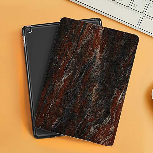 Funda iPad 10.2 Inch 2018/2019,Naturaleza Ónix Hermoso Rojo Negro Blanco Mármol Interiores Abstractos Arquitectura Construcción Detalle Oscuro,Cubierta Trasera Delgada Smart Auto Wake/Sleep