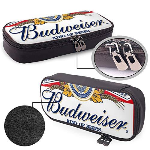 Dankbaar dankbaar gezegend grote capaciteit lederen potlood case potlood student briefpapier doos opbergtas Eén maat Budweiser bier logo