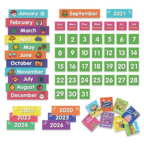 Eamay Calendar Pocket Chart Cards and Classroom Calendar Cards Kit for Homeschool -71cards (71)