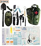 WildmanSurvival 313 pcs. Survival First Aid Kit IFAK Molle System Compatible Outdoor Gear Emergency Kits...
