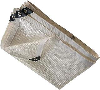 Tarpaulin Waterproof Heavy Duty Transparent Succulents Cover Patio Rainproof Cloth Foldable Metal Buckle Polyethylene, 14 ...