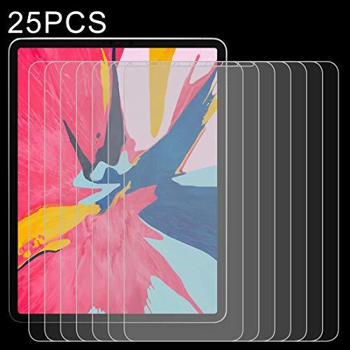 ZUEN 25 PCS 0.26mm 9H Surface Hardness Uncoiled Edge Explosion-proof Hardened Glass Film for iPad Pro 11 (2018) &