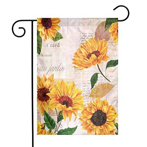 N/A Romantische Blumen auf altmodischen Briefen Postkarten Zeitungen einseitig 12 x 18 Zoll
