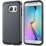 Galaxy S7 Edge Case, LUVVITT [Ultra Armor] Shock Absorbing Case Best Heavy Duty Dual Layer Tough Cover for Samsung Galaxy S7 Edge - Gunmetal/Black