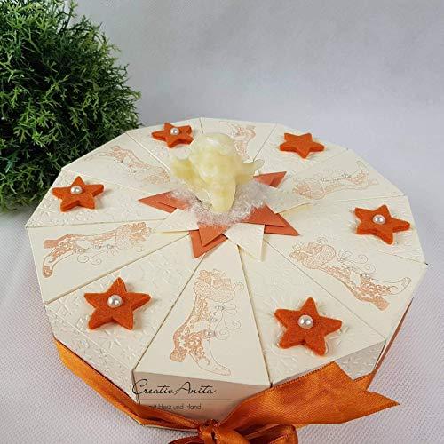 Weihnachtstorte Schachteltorte VINTAGE-STYLE Weihnachten Advent Geschenk