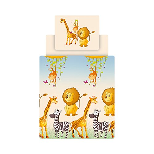 Ticaa Bettwäsche Set inkl. Bettlaken Motiv Safari