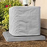 SugarHouse Outdoor Air Conditioner Cover - Premium Marine Canvas - Made in The USA - 7-Year Warranty - 24' x 24' x 26' - Gray