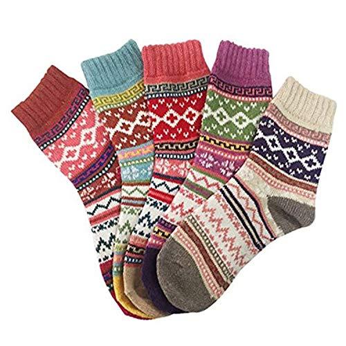 Calcetines deportivos unisex con diseño divertido para el invierno cálido