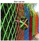 Red de cuerda de 6 mm de grosor, Red de valla de jardín Cubierta de red, Red de soporte de carga, Red decorativa, Red de protección de piscina infantil, Balcón de escalera pasamanos neto, Multi-tamaño