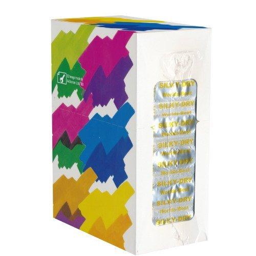 World's Best Kondome: Kontakt Silke Latex, trockene Kondome mit Reservoir - ohne Silikonöl - ideal zur Verwendung beim Oralsex und für Toys - Kondome ohne Gleitgel und mit 54mm Breite, 1 x 100 Stück (Maxipack)