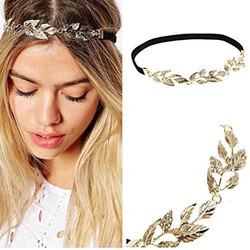 Jovono Hochzeit Kopfschmuck Stirnband mit Legierung Blatt für Damen und Mädchen