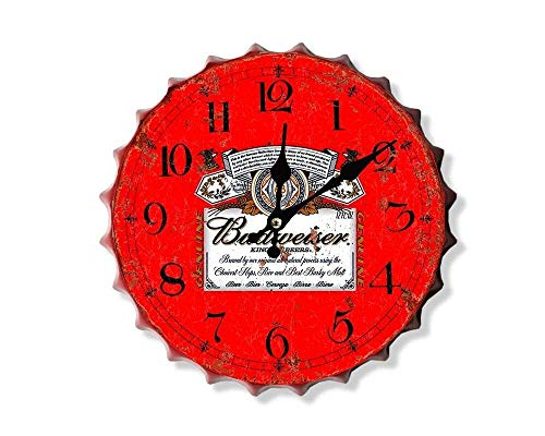 Weird Or Wonderful Budweiser Bud Red - Drinks Happy Hour Beer Más Grande Vintage Retro Mancave Hombre Cueva cobertizo Garaje Taller Pub Bar Regalo