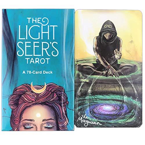 LPWCAWL Light Seer's Tarot, Divination Destiny Tarot Deck, Brettspiel Karte für Erwachsene und Kinder, 78 Karten, Englische Version