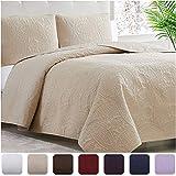 Mellanni Bedspread Coverlet Set Spa-Blue - Comforter Bedding...