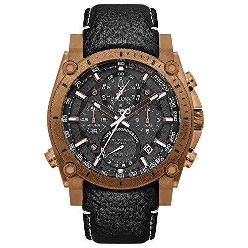 Bulova Herren Edelstahl Quarz Sport Uhr mit Nylon Armband Schwarz 24 (Modell: 97B188)