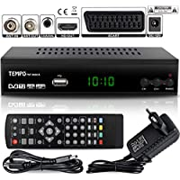 Tempo 4000 Decodificador Digital Terrestre – DVB T2 / HDMI Full HD / Canales Sintonizador / Receptor TV / PVR / H.265 HEVC / USB / Decoder / DVB-T2 / TNT / TDT Television / 4K