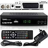 Tempo 4000 Decoder Digitale Terrestre DVB T2 / HD / HDMI / Ricevitore TV / PVR /...