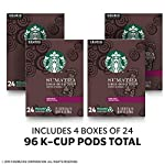 Starbucks Decaf K-Cup Coffee Pods — Pike Place Roast for Keurig Brewers — 4 boxes (96 pods total) 11 FLAVOR AND ROAST: Starbucks Sumatra is a dark-roasted, full-bodied coffee with spicy and herbal notes and a deep, earthy aroma PACKAGING CHANGE: We are changing our packaging to make our K-Cup pods recyclable as part of our commitment to sustainable practices. You may receive either package for a limited time FOR KEURIG BREWERS: Starbucks K-Cup pods are designed for use with the Keurig Single Cup Brewing System