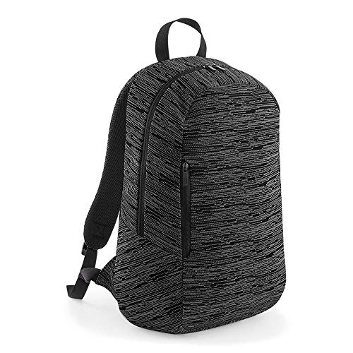 Personalised Custom Your Text Design Logo BG198 Duo Knit Backpack - Grey/Black