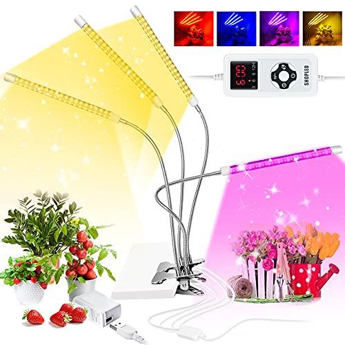 LED Pflanzenlampe ,SHOPLED 264 LEDs, Mit Timer, 9 Stufen Dimmbar wachstumslampe Pflanzenlicht , mit rot-blau-weißem Vollspektrum, Geeignet für Gewächshaus, Innengarten, Gemüse- und Obstwachstum