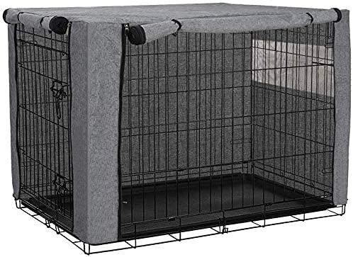 chengsan - Copertura per gabbia per cani, in poliestere, protezione resistente e antivento, per interni ed esterni