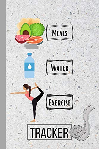 """Compare Textbook Prices for Health Fitness Tracker: A logbook to track your, meals, water and exercise daily; health and wellness; weightloss; tracker; logbook; journal; 6""""x9""""; 120 log pages  ISBN 9798596951141 by Holmes, ADH"""