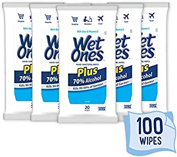 100-Count Wet Ones 70% Alcohol Hand Sanitizer Wipes