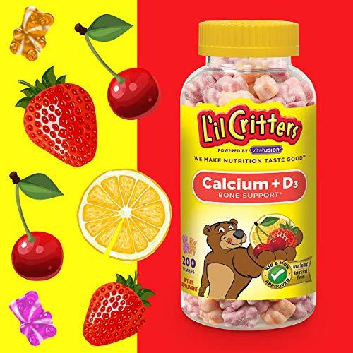 L'il Critters Calcium + Vitamin D3, (200 Gummy Bears)