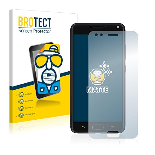 BROTECT 2x Entspiegelungs-Schutzfolie kompatibel mit Asus ZenFone 4 ZE554KL Bildschirmschutz-Folie Matt, Anti-Reflex, Anti-Fingerprint