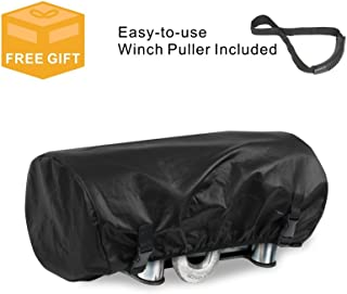 Explore Land Waterproof Universal Winch Cover - Dust Resistant Winches Cover 15.5 x 8.5 x 7 inch - Fits Electric Winches Up to 4,500 lbs