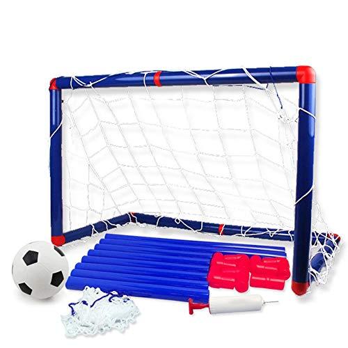 flower205 Kinder Fußballnetz Mini Outdoor Indoor Kinder Fußball Tore Ballnetz Mit Ballpumpe Fußballtor Kinder