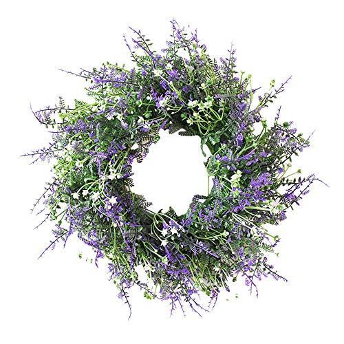 Tamkyo Girlande für den Frühling, künstliche Lavendelgirlande, für Eingangstür, Garten, Blume, Wandteppich, Party,...