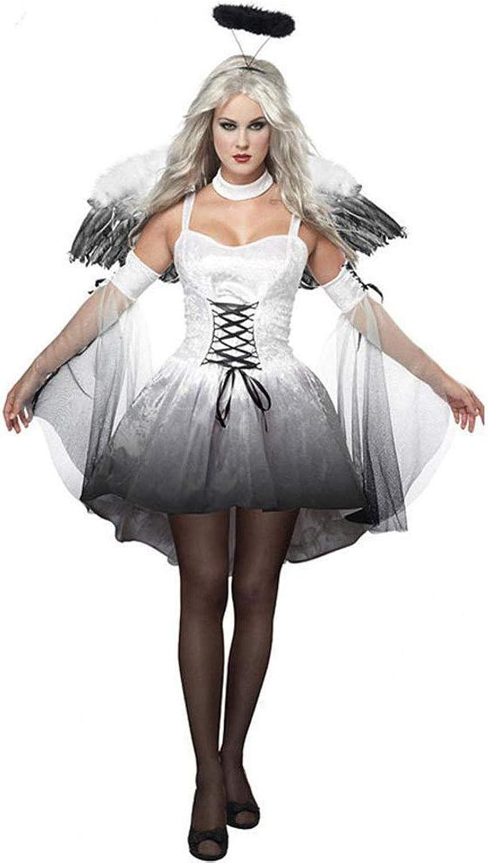 Shisky Cosplay kostüm Damen, Halloween cos Kostüm Angel Rolle Kostüm Hexenkostüm mit Engel Flügel B07JB5SQVQ Schöne Farbe    | Kostengünstig