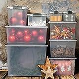 Rotho 1164908812 Roll Box Compact mit Deckel und 4 stabilen Rollen, Aufbewahrungsbox aus Kunststoff im Din A3 Format, Inhalt 70 L, Plastik, Transparent/Anthrazit, 57 x 39.5 x 43.5 cm - 5