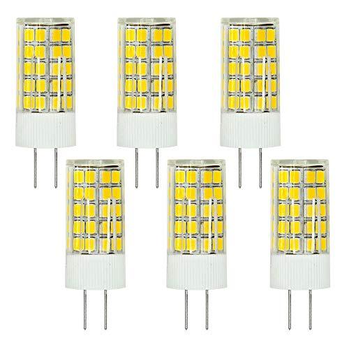 MENGS 6 Stück G4 LED Lampe 6W AC/DC 12V Kaltweiß 6500K 63x2835 SMD Mit ACRYLIC und Keramic Material