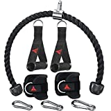 Pro tricep - Manijas para máquina de cables con mosquetones, compatible con el sistema de máquina de cables Bowflex para el hogar, gimnasio, ejercicio, sistema de máquina