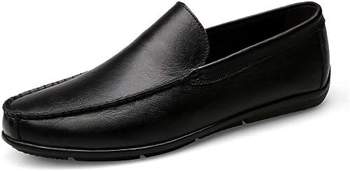 CHENJUAN Chaussures Mocassins De Conduite pour Mocassins Décontracté Décontracté Décontracté Décontracté Bas Bas Haut De Couleur Pure Mocassins Flexible pour Bateau d1a