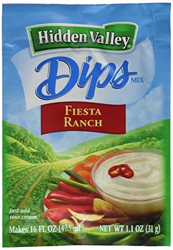 Hidden Valley Fiesta Ranch Dips Mix, Gluten Free -Pack of 24