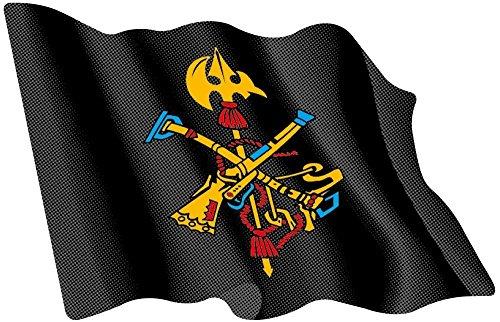 Artimagen Pegatina Bandera ondeante Logo legión Color 80 x 60 mm.